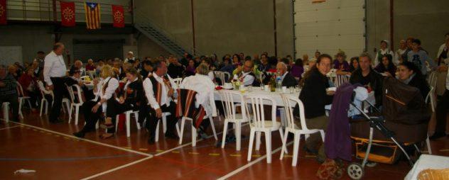 Le public à la fin du repas